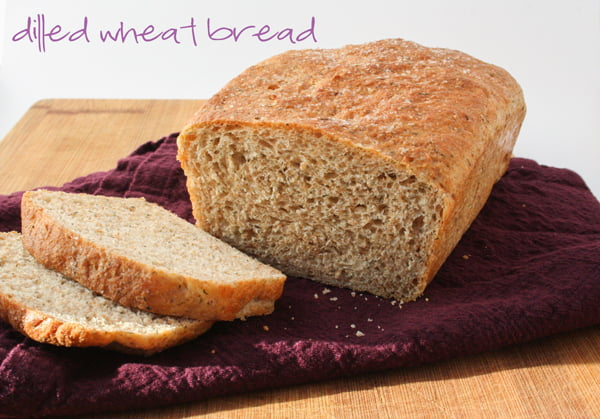 Dilled wheat bread {bread machine recipe}