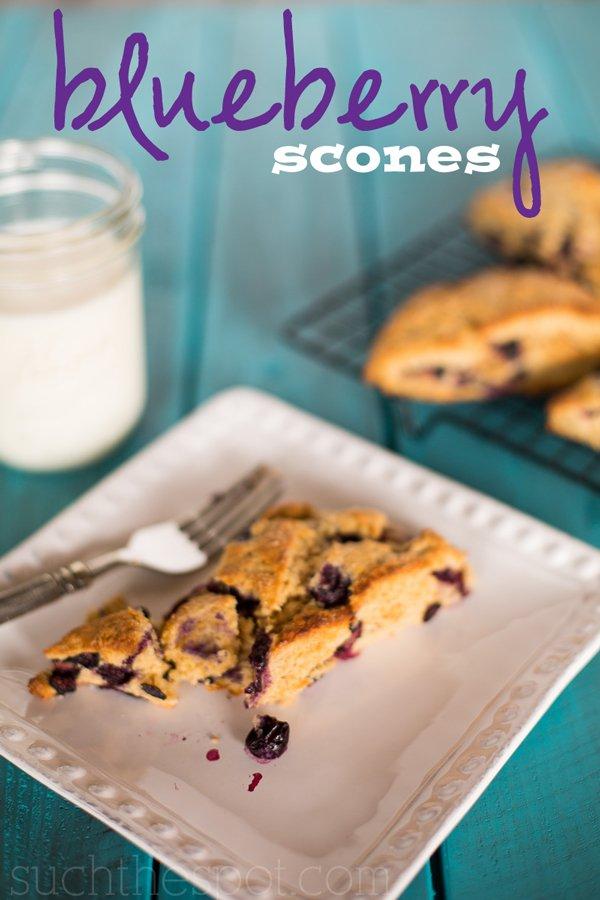 Blueberry breakfast scones | Such the Spot
