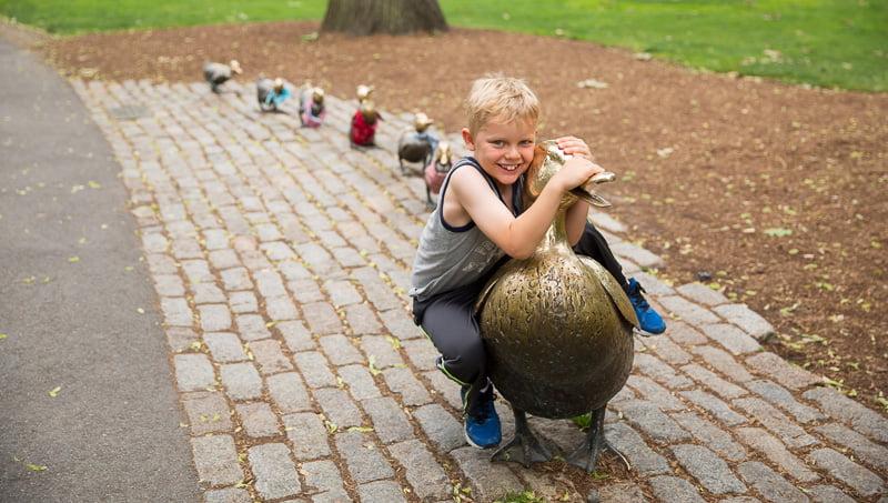 Make Way for Ducklings sculpture | Boston Public Garden