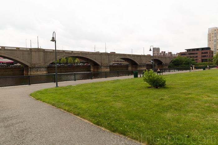 Boston waterfront walking path